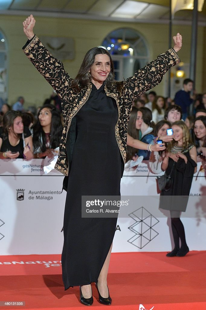 Spanish actress <a gi-track='captionPersonalityLinkClicked' href=/galleries/search?phrase=Angela+Molina&family=editorial&specificpeople=2594354 ng-click='$event.stopPropagation()'>Angela Molina</a> attends the 'Carmina y Amen' premiere during the 17th Malaga Film Festival at the Cervantes Theater on March 22, 2014 in Malaga, Spain.