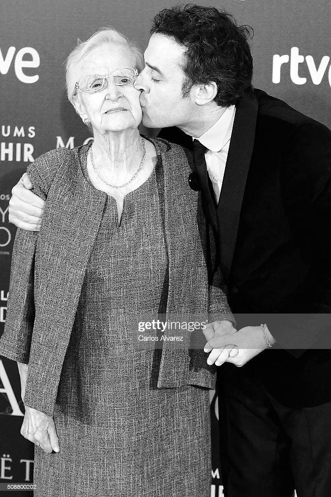 Spanish actress Antonia Guzman (L) and director Daniel Guzman (R) attends Goya Cinema Awards 2016 at Madrid Marriott Auditorium on February 6, 2016 in Madrid, Spain.