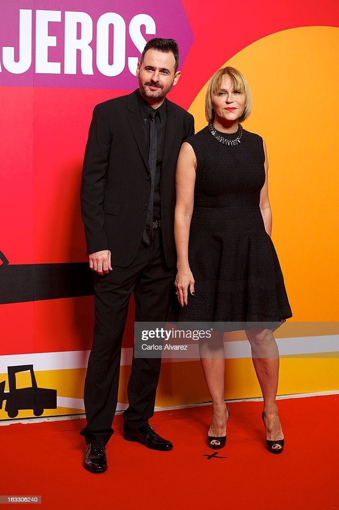 Spanish actress Antonia San Juan and Luis Miguel Segui attend 'Los Amantes Pasajeros' premiere party at Casino de Madrid on March 7, 2013 in Madrid, Spain.