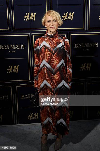 Spanish actress Antonia San Juan attends the Balmain and HM Collection launch party at the Neptuno Palace on November 3 2015 in Madrid Spain