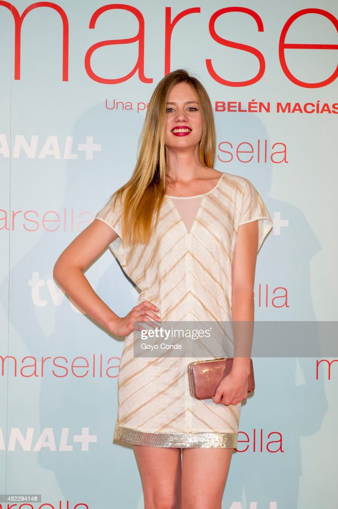 Spanish actress Arantxa Marti attends 'Marsella' premiere at the Capitol cinema on July 17, 2014 in Madrid, Spain.