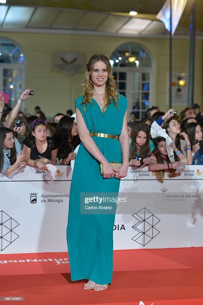 Spanish actress Arantxa Martin attends the 'Carmina y Amen' premiere during the 17th Malaga Film Festival at the Cervantes Theater on March 22, 2014 in Malaga, Spain.