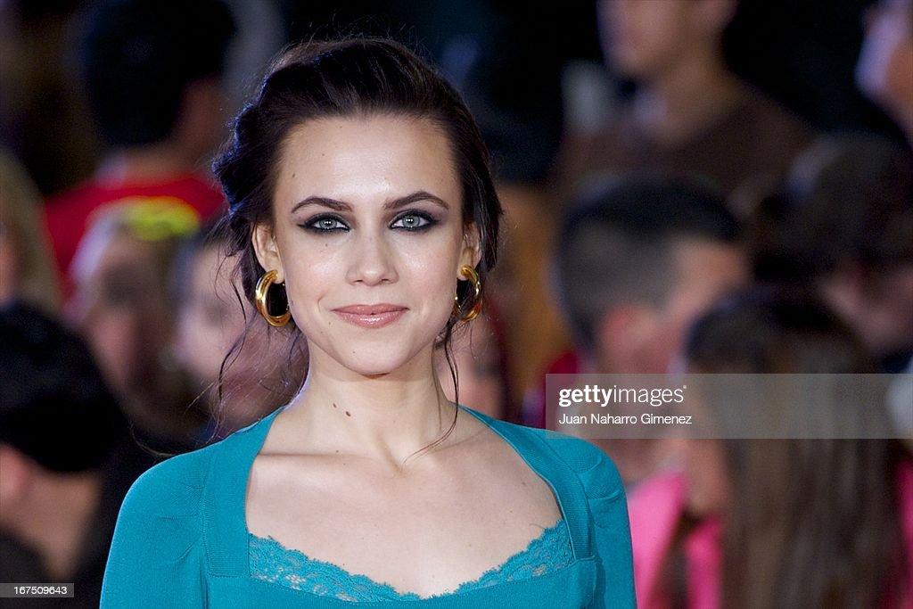 Spanish actress Aura Garrido attends 'Gala Premio Eloy de la Iglesia' during 16 Malaga Fiml Festival at Teatro Cervantes on April 25, 2013 in Malaga, Spain.