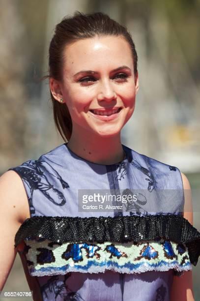 Spanish actress Aura Garrido attends 'La Niebla y la Doncella' photocall during the 20th Malaga Film Festival on March 19 2017 in Malaga Spain