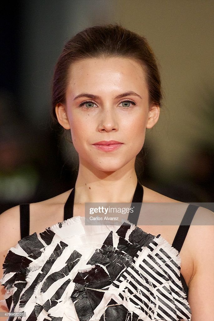 Spanish actress Aura Garrido attends the 17th Malaga Film Festival 2014 opening ceremony at the Cervantes Theater on March 21, 2014 in Malaga, Spain.