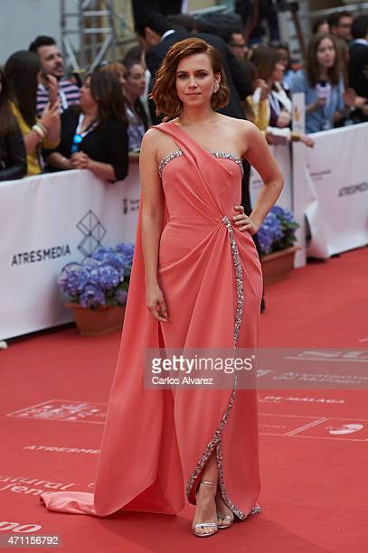 Spanish actress Aura Garrido attends the 18th Malaga Spanish Film Festival close ceremony at the Cervantes Theater on April 25 2015 in Malaga Spain