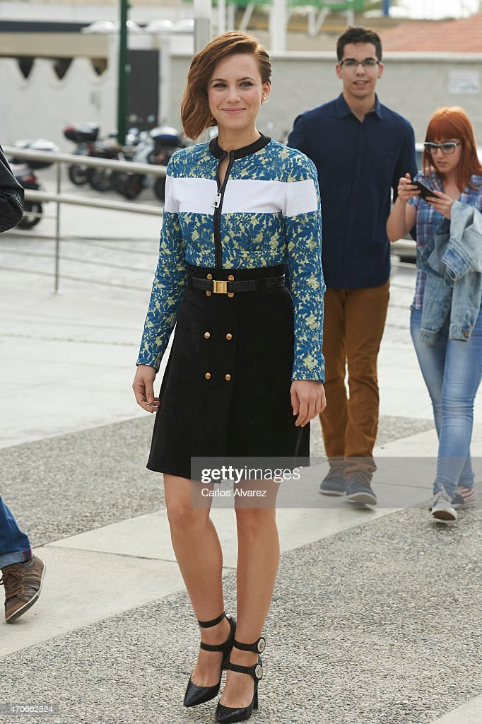 Spanish actress Aura Garrido attends the 'Asesinos Inocentes' photocall during the 18th Malaga Film Festival on April 22 2015 in Malaga Spain