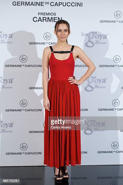 Spanish actress Aura Garrido attends the 'Carmen' Germaine de Capuccini award at the Academia de Cine on January 29 2014 in Madrid Spain
