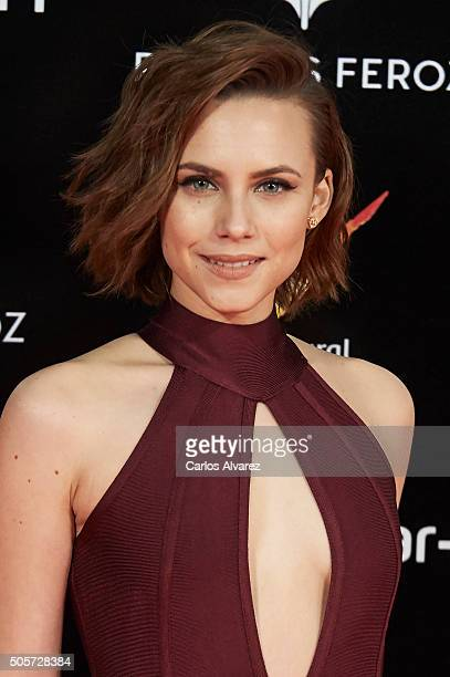 Spanish actress Aura Garrido attends the Feroz Awards 2016 red carpet at the Gran Teatro Principe Pio on January 19 2016 in Madrid Spain