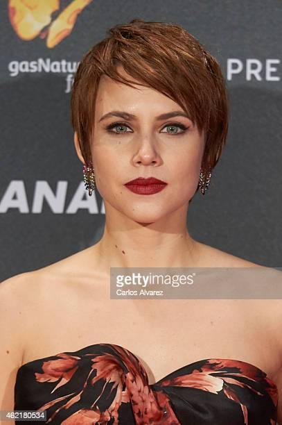 Spanish actress Aura Garrido attends the 'Feroz' Cinema Awards 2015 at Gran Teatro Ruedo Las Ventas on January 25 2015 in Madrid Spain
