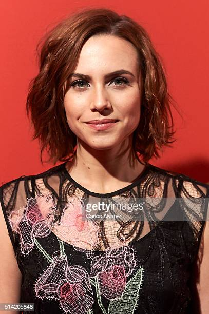Spanish actress Aura Garrido attends the Fotogramas Awards 2015 at the Joy Eslava Club on March 7 2016 in Madrid Spain