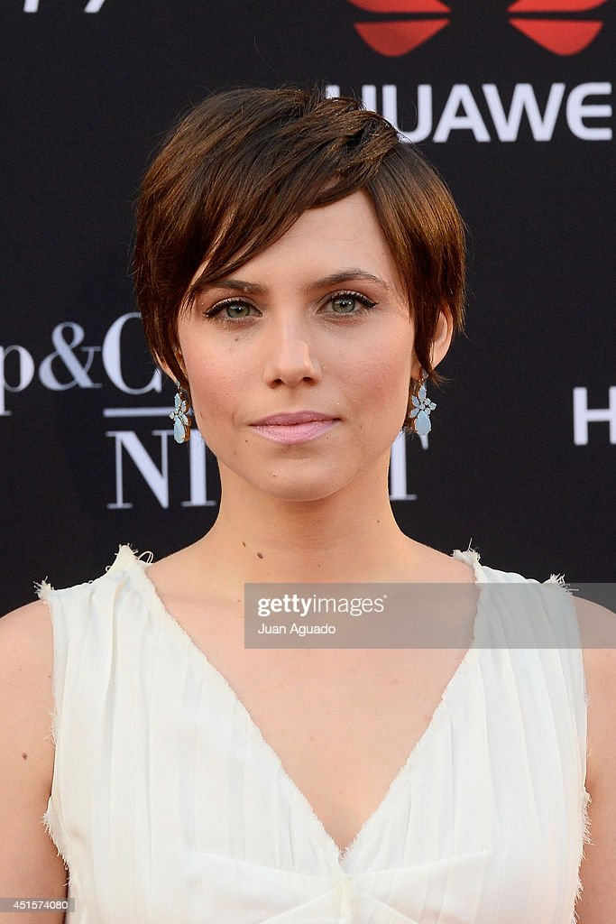 Spanish actress Aura Garrido attends the Huawei Ascend P7 Cocktail Party on July 1 2014 in Madrid Spain