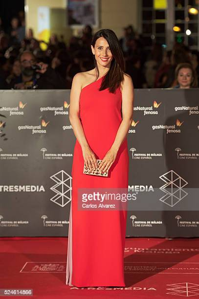 Spanish actress Barbara Goenaga attends 'Julie' premiere during the 19th Malaga Film Festival on April 26 2016 in Malaga Spain