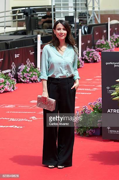 Spanish actress Barbara Goenaga attends 'La Punta del Iceberg' photocall during the Malaga Film Festival 2016 Day 2 on April 23 2016 in Malaga Spain