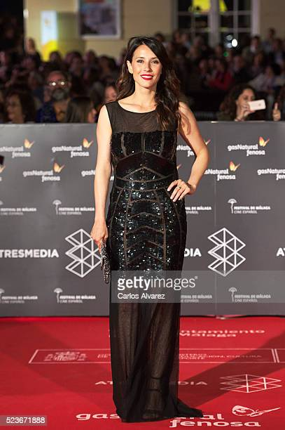 Spanish actress Barbara Goenaga attends 'La Punta del Iceberg' premiere at the Cervantes Theater during the 19th Malaga Film Festival 2016 Day 2 on...