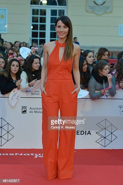 Spanish actress Barbara Goenaga attends the 17th Malaga Film Festival 2014 closing ceremony at the Cervantes Theater on March 29 2014 in Malaga Spain