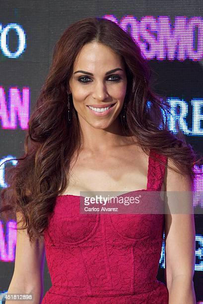 Spanish actress Barbara Goenaga attends the Cosmopolitan Beauty Awards at the Platea Restaurant on July 7 2014 in Madrid Spain