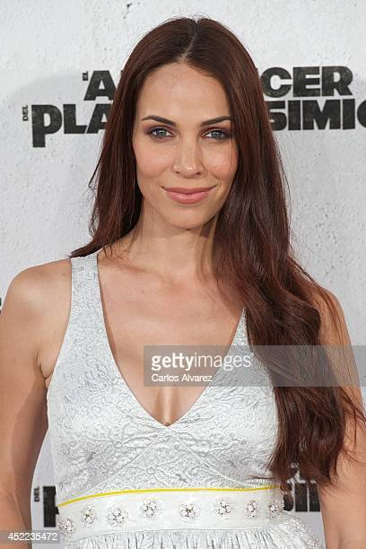 Spanish actress Barbara Goenaga attends the 'Dawn of the Planet of the Apes' premiere at the Capitol cinema on July 16 2014 in Madrid Spain