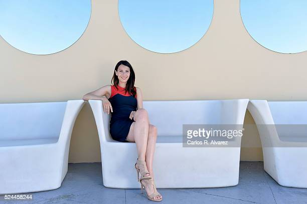 Spanish actress Barbara Goenaga poses for a portrait session at the Malaga Palacio Hotel during the 19th Malaga Film Festival on April 26 2016 in...