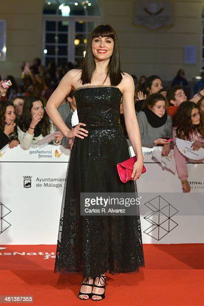 Spanish actress Barbara Lennie attends the 17th Malaga Film Festival 2014 closing ceremony at the Cervantes Theater on March 29 2014 in Malaga Spain