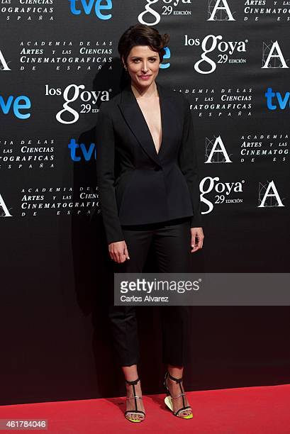 Spanish actress Barbara Lennie attends the 29th Goya Awards Nominated party at the Canal Theater on January 19 2015 in Madrid Spain
