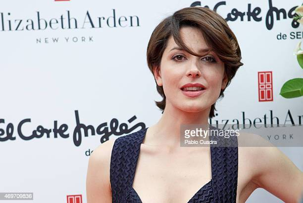 Spanish actress Barbara Lennie attends the 'Elizabeth Arden' space opening event at the 'El Corte Ingles' store on April 14 2015 in Madrid Spain