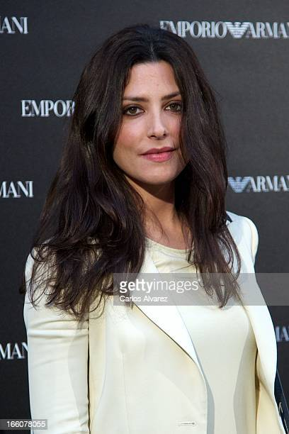 Spanish actress Barbara Lennie attends the Emporio Armani Boutique opening on April 8 2013 in Madrid Spain