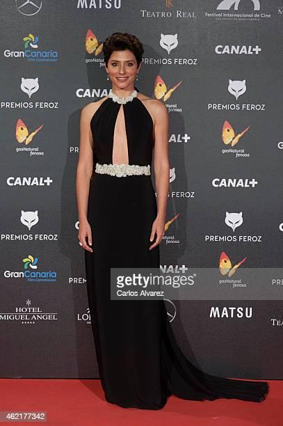 Spanish actress Barbara Lennie attends the 'Feroz' Cinema Awards 2015 at Gran Teatro Ruedo Las Ventas on January 25 2015 in Madrid Spain