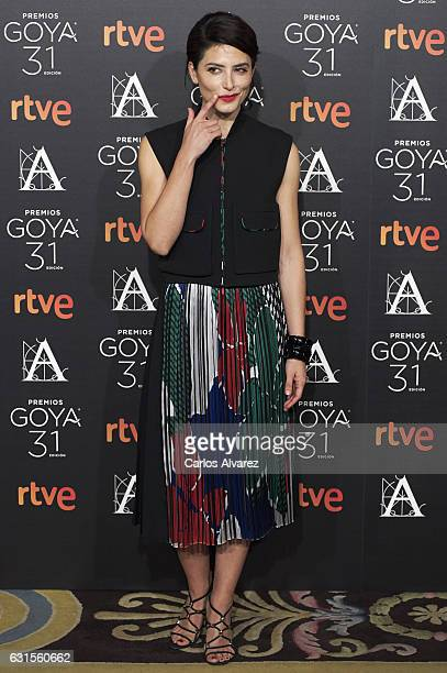 Spanish actress Barbara Lennie attends the Goya cinema awards candidates 2016 cocktail at the Ritz Hotel on January 12 2017 in Madrid Spain