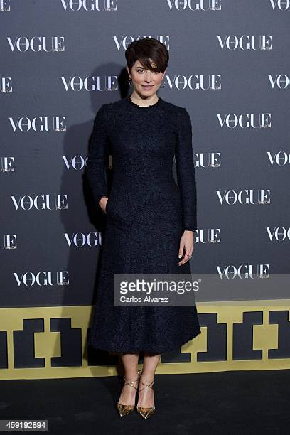 Spanish actress Barbara Lennie attends the 'Vogue Joyas' 2013 awards at the Stock Exchange building on November 18 2014 in Madrid Spain