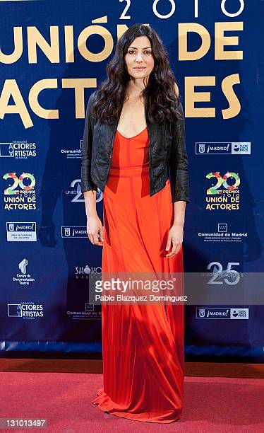 Spanish actress Barbara Lennie attends XX Union de Actores Awards at Circo Price Theatre on October 31 2011 in Madrid Spain