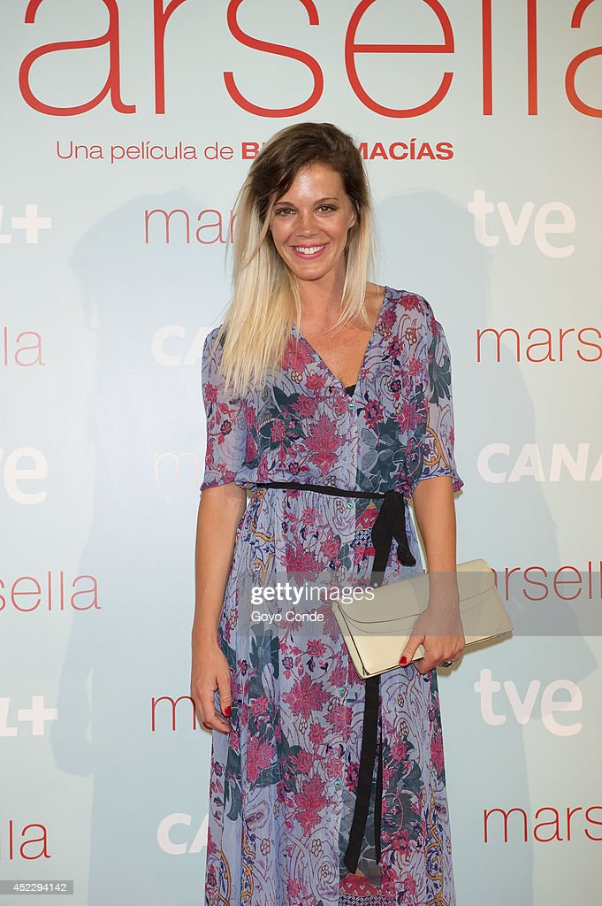 Spanish actress Barbara Munoz attends 'Marsella' premiere at the Capitol cinema on July 17, 2014 in Madrid, Spain.