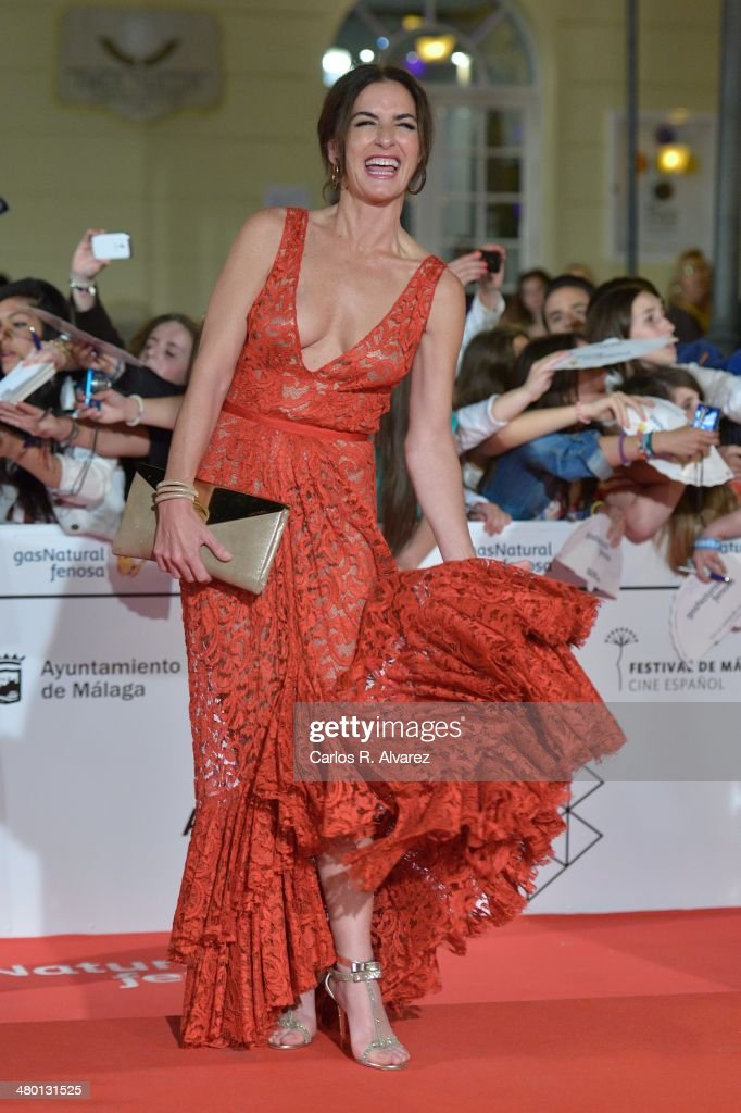 Spanish actress Belen Lopez attends the 'Carmina y Amen' premiere during the 17th Malaga Film Festival at the Cervantes Theater on March 22, 2014 in Malaga, Spain.