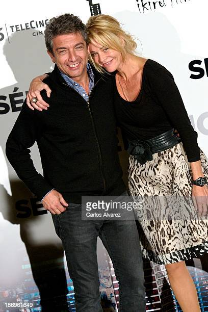 Spanish actress Belen Rueda and actor Ricardo Darin attend the 'Septimo' photocall at the Casa de America on November 5 2013 in Madrid Spain