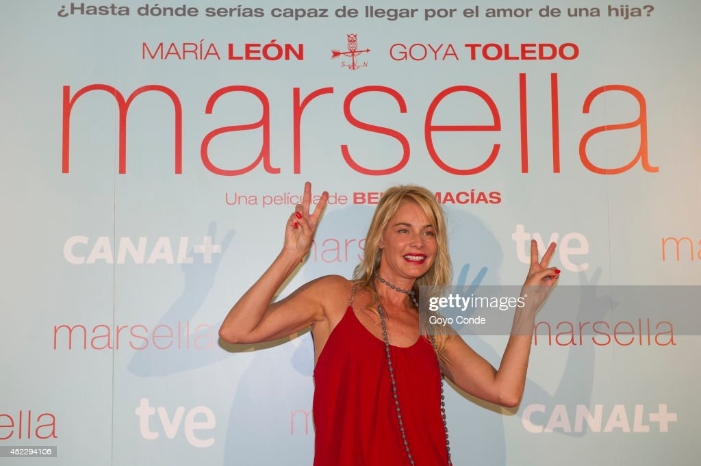 Spanish actress <a gi-track='captionPersonalityLinkClicked' href=/galleries/search?phrase=Belen+Rueda&family=editorial&specificpeople=213596 ng-click='$event.stopPropagation()'>Belen Rueda</a> attends 'Marsella' premiere at the Capitol cinema on July 17, 2014 in Madrid, Spain.