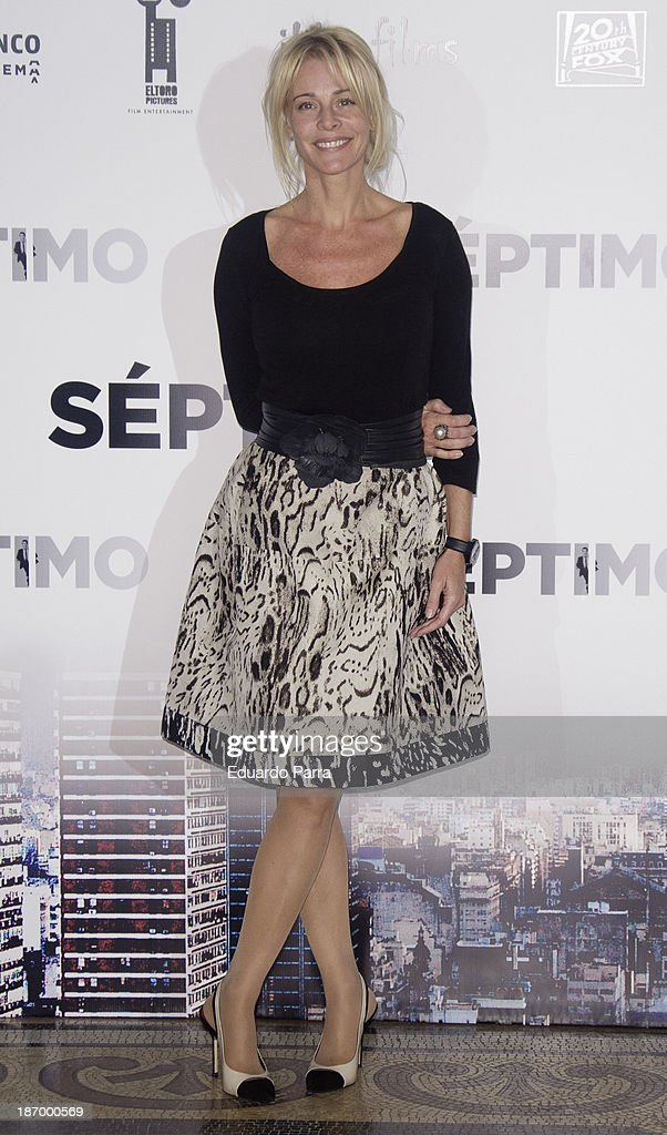 Spanish actress Belen Rueda attends the 'Septimo' photocall at the Casa de America on November 5, 2013 in Madrid, Spain.