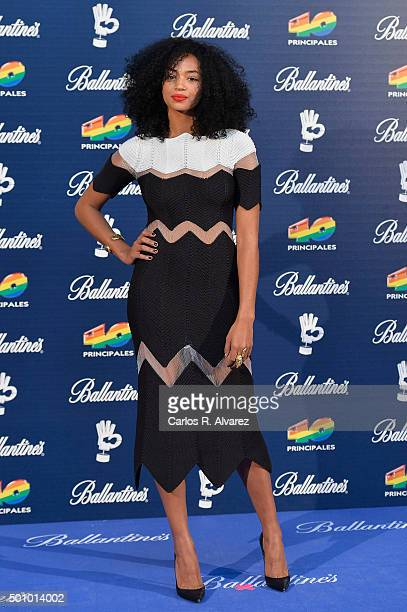 Spanish actress Berta Vazquez attends the 40 Principales Awards 2015 photocall at the Barclaycard Center on December 11 2015 in Madrid Spain