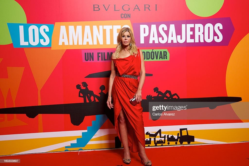 Spanish actress Bibi Andersen attends 'Los Amantes Pasajeros' premiere party at Casino de Madrid on March 7, 2013 in Madrid, Spain.