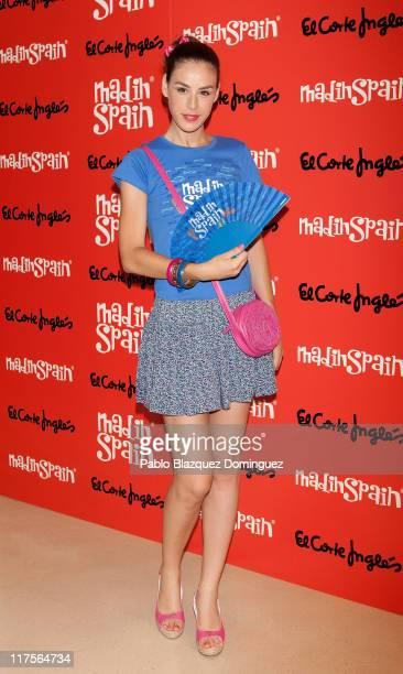 Spanish actress Blanca Jara promotes the new brand 'MadinSpain' at El Corte Ingles on June 28 2011 in Madrid Spain