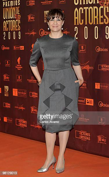 Spanish actress Blanca Portillo attends 'Union de Actores' awards at the Price Circus on March 29 2010 in Madrid Spain
