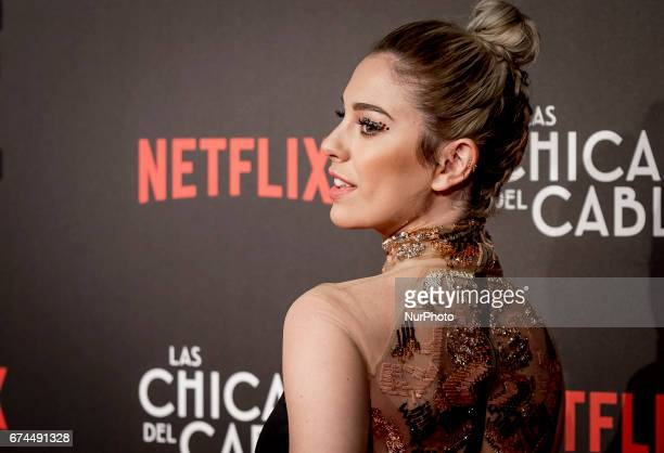 Spanish actress Blanca Suarez attends 'Las Chicas Del Cable' premiere at the Callao cinema on April 27 2017 in Madrid Spain