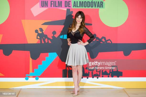Spanish actress Blanca Suarez attends 'Los Amantes Pasajeros' photocall at Espacio Fundacion Telefonica on March 6 2013 in Madrid Spain