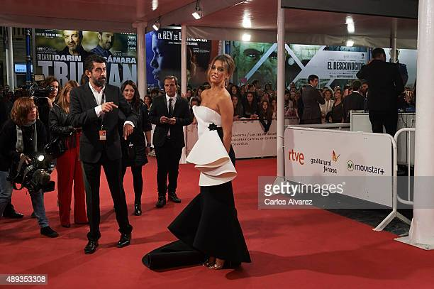 Spanish actress Blanca Suarez attends the 'Mi Gran Noche' premiere at the Kursaal Palace during 63rd San Sebastian International Film Festival on...