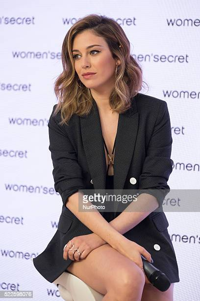 Spanish actress Blanca Suarez attends the Women Secret Swimwear photocall in Madrid on April 20 2016