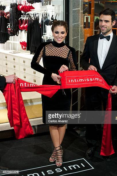 Spanish actress Blanca Suarez inaugurates the new 'Intimissimi' Flagshio Store on November 28 2013 in Madrid Spain