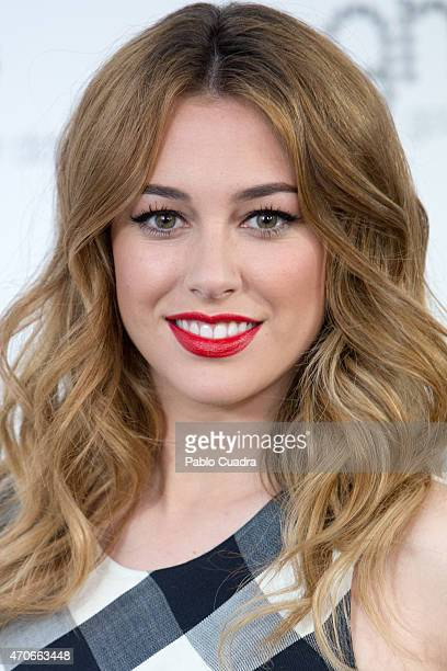 Spanish actress Blanca Suarez poses during a photocall as she is the new image of GHD on April 22 2015 in Madrid Spain