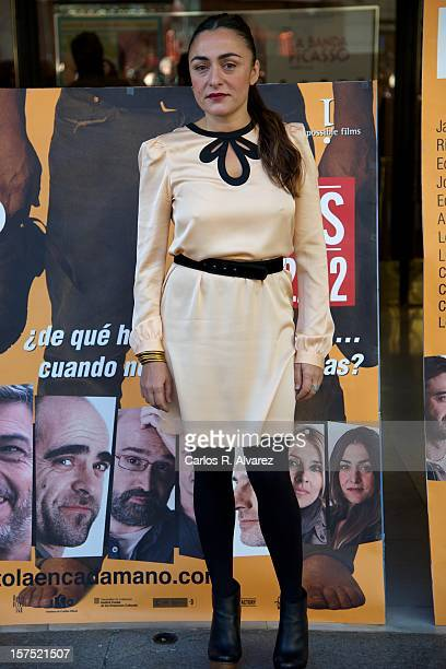 Spanish actress Candela Pena attends the 'Una Pistola en Cada Mano' photocall at the Roxy B cinema on December 4 2012 in Madrid Spain