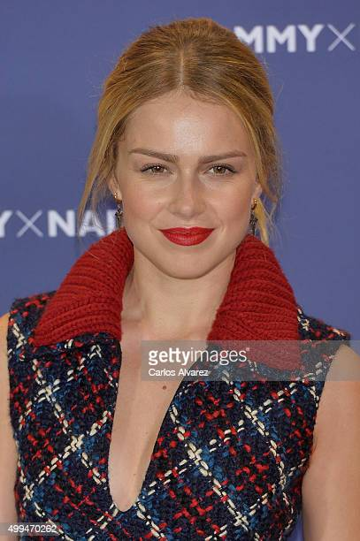 Spanish actress Carla Nieto attends Tommy Hilfiger event at the Cibeles Palace on December 1 2015 in Madrid Spain