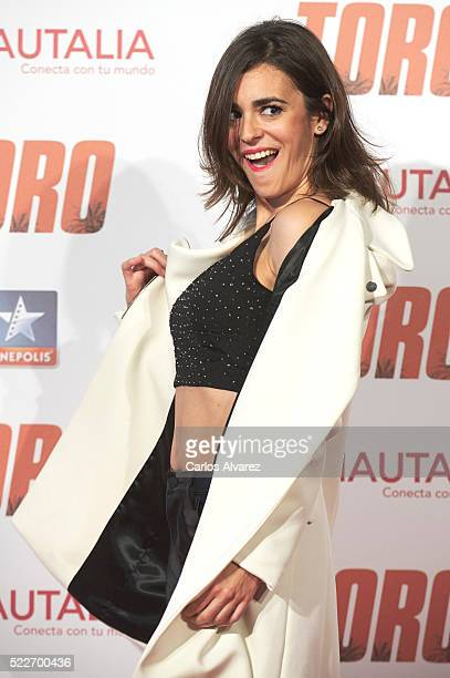 Spanish actress Carmen Canivell attends 'Toro' premiere at the Kinepolis cinema on April 20 2016 in Madrid Spain