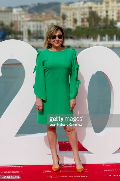 Spanish actress Carmen Machi attends 'El Bar' photocall at Muelle Uno on March 17 2017 in Malaga Spain